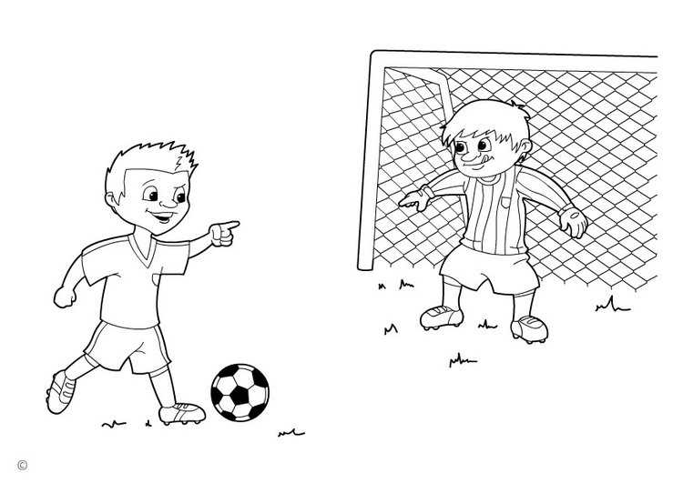 Coloring page penalty kick