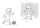Coloring pages penalty kick