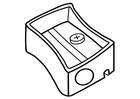 Coloring page pencil sharpener