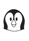 Coloring page Penguin Head