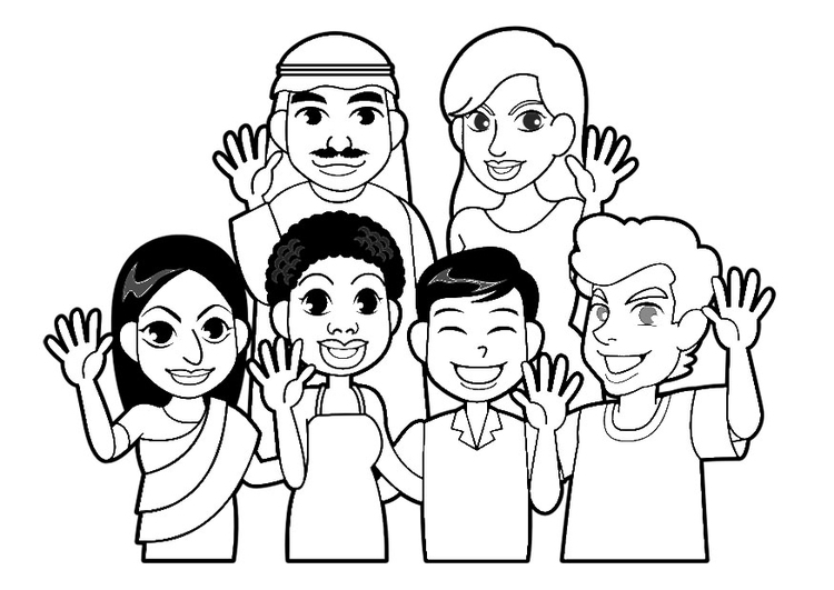 Disabled Person #40 (Characters) – Printable coloring pages | 531x750