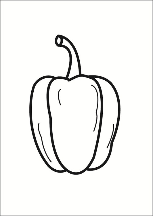 Coloring page pepper