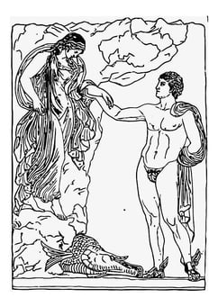 Coloring page perseus and andromeda