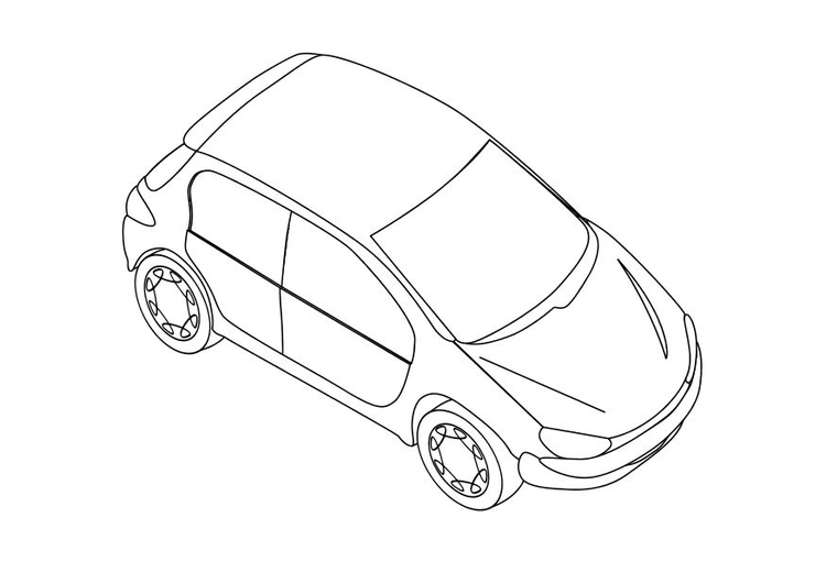 Coloring page peugeot 206