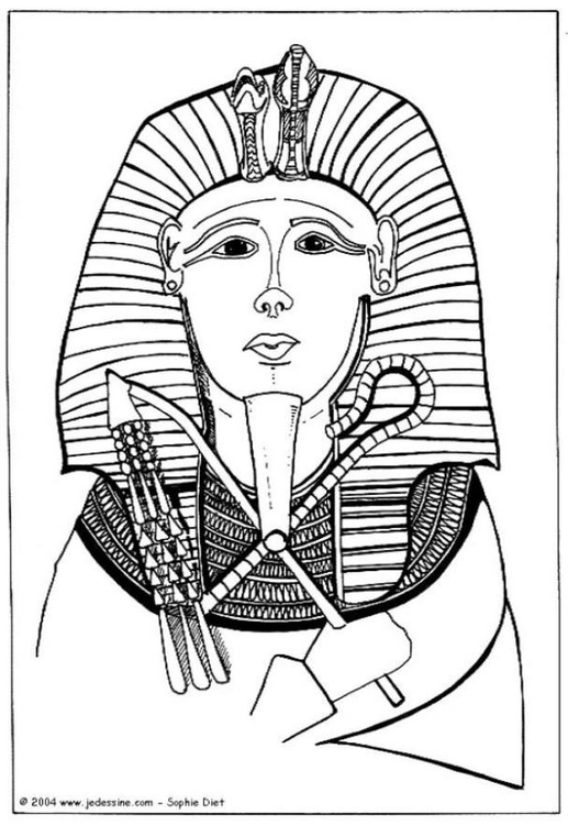 Coloring page pharaoh