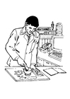 Coloring pages pharmacist
