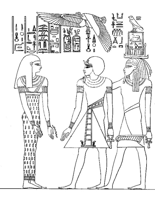 Coloring page Pharoah Amenophis III