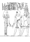 Coloring pages Pharoah Amenophis III