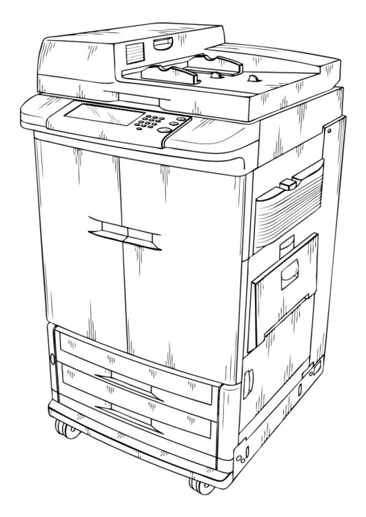 Coloring page Photocopier