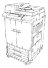 Coloring pages Photocopier
