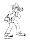 Coloring page photographer