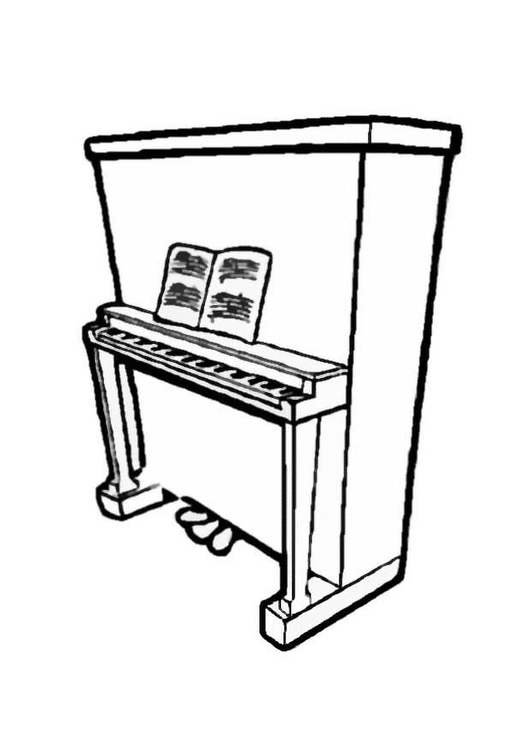 Coloring page piano 2