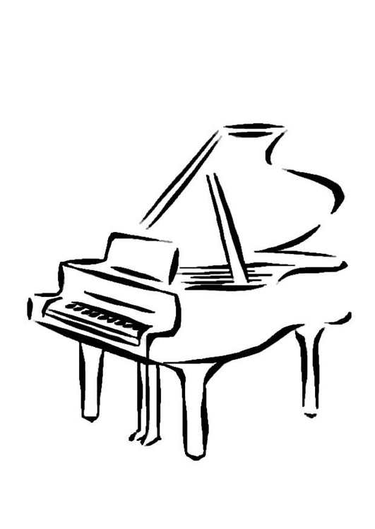 Coloring page piano