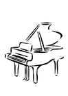 Coloring pages piano