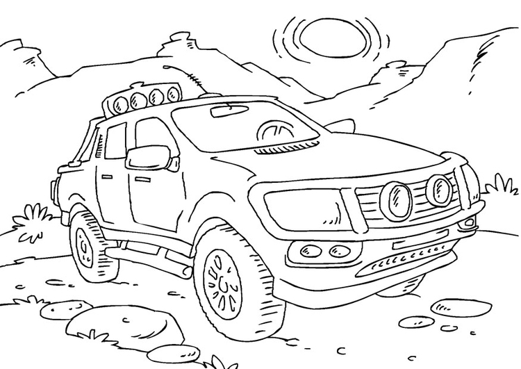 Coloring page pickup truck