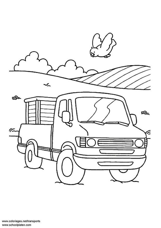 Coloring page pick-up truck