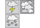 Coloring pages pictograms weather 3