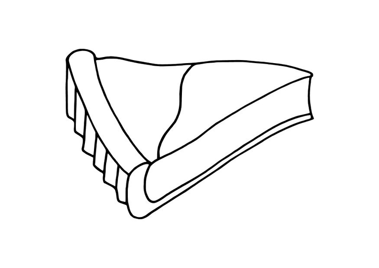 Coloring page pie slice