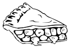 Coloring pages pie slice