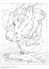 Coloring page pilot whale