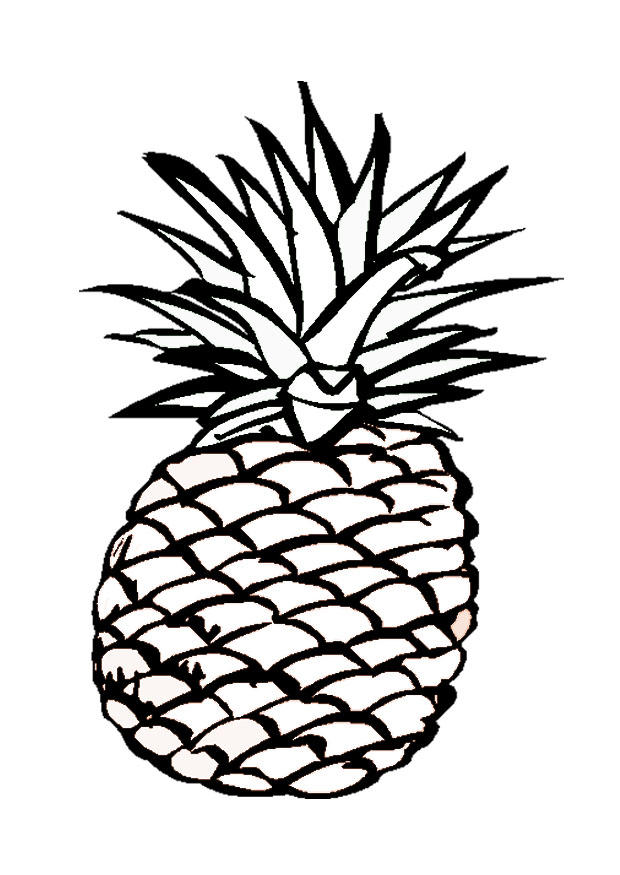 Coloring Page Pineapple - Free Printable Coloring Pages - Img 9547