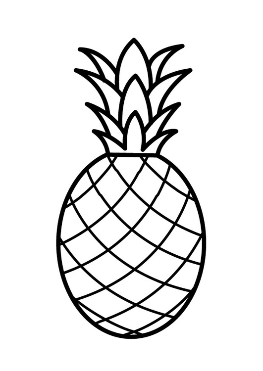 Coloring page pineapple