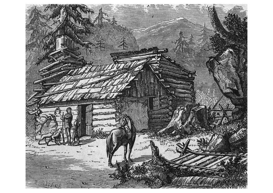Coloring Page Pioneers Img 9417 House On The Prairie Coloring Pages