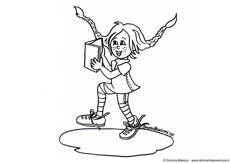 Coloring page pippi longstocking