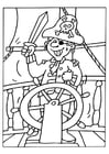 Coloring page Pirate 2
