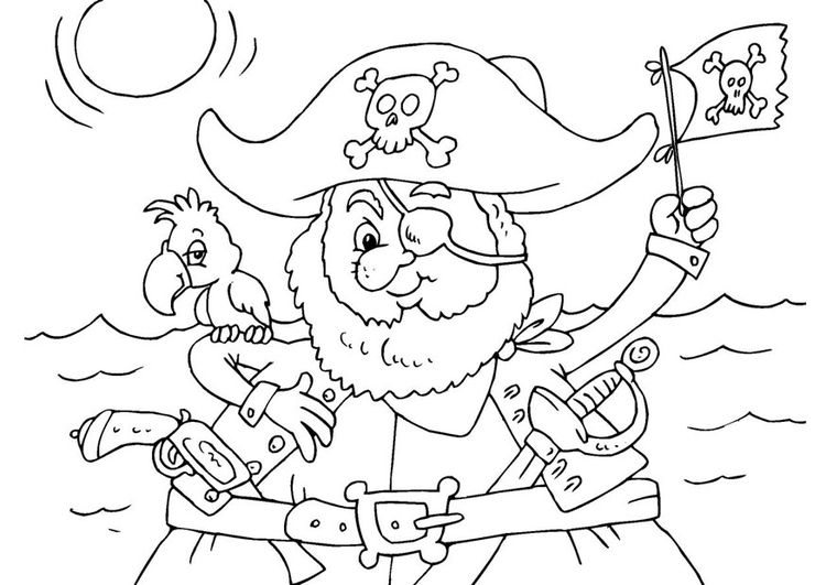 coloring page pirate  free printable coloring pages  img