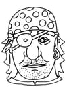 Coloring pages Pirate mask