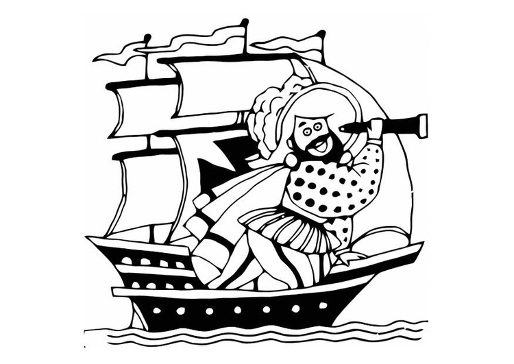 Coloring page pirate ship - img 10812.