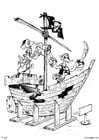 Coloring page pirate ship