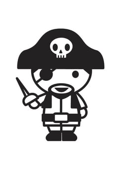 Coloring page Pirate