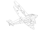 Coloring pages plane
