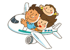Coloring page plane