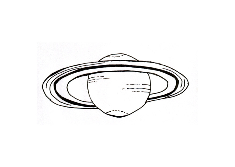 Coloring page planet