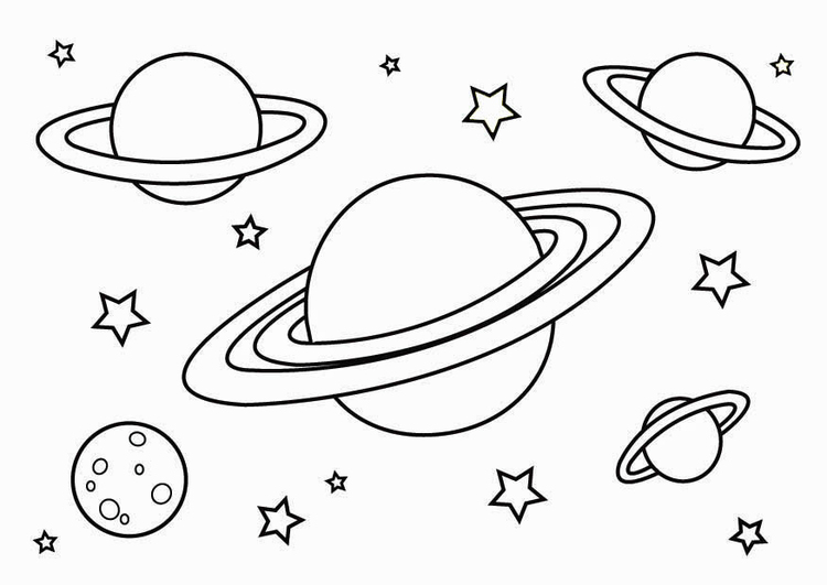 Coloring page planets