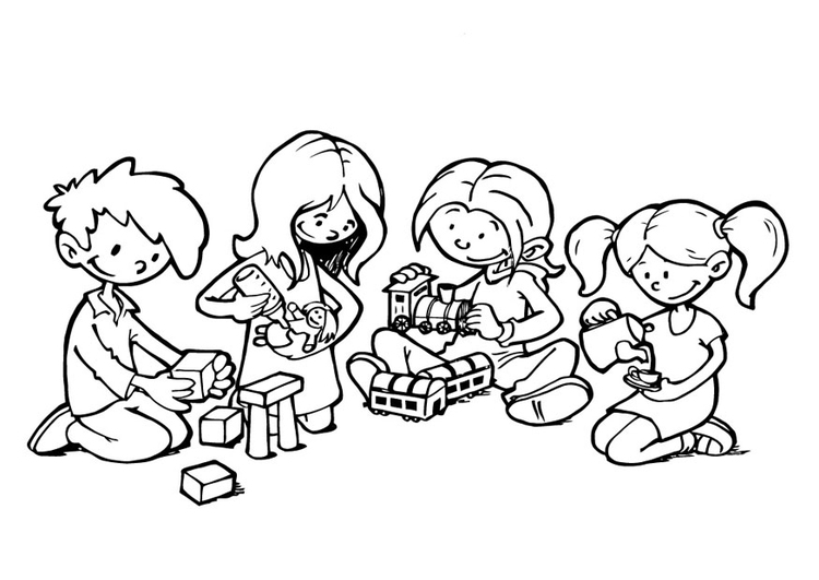 Coloring page play corner - img 19300.