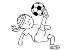 Coloring page play football