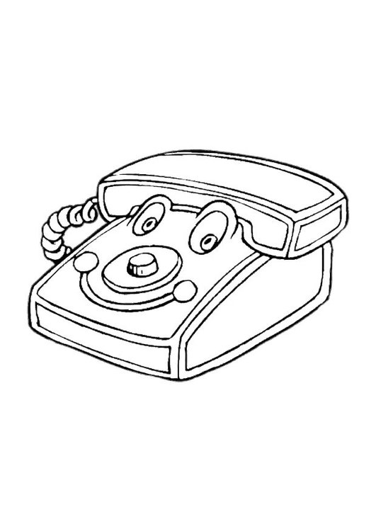 Coloring page play telephone