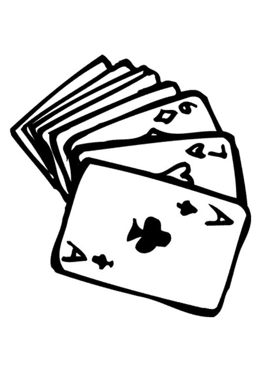 Coloring page playing cards img 9572 for Playing cards coloring pages