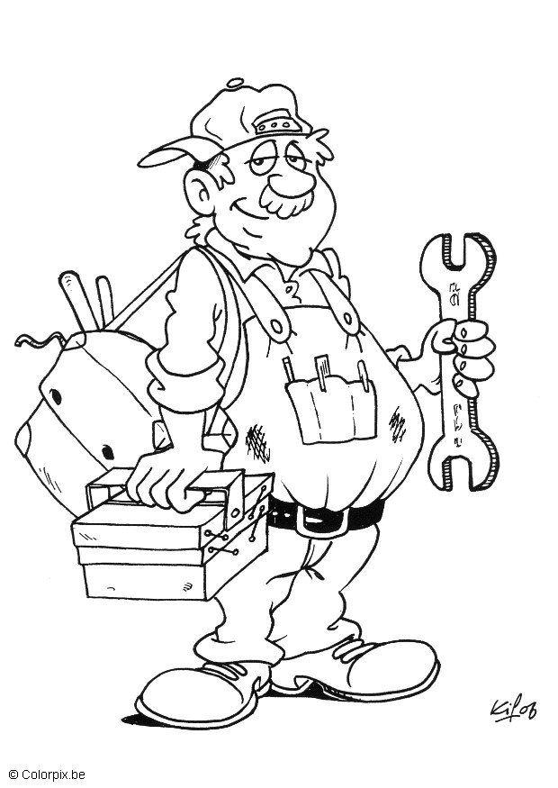 Coloring Page Plumber Free Printable Coloring Pages
