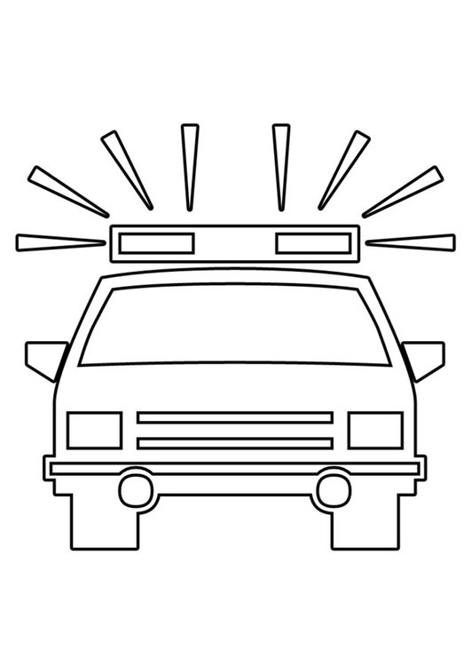 Coloring page police car