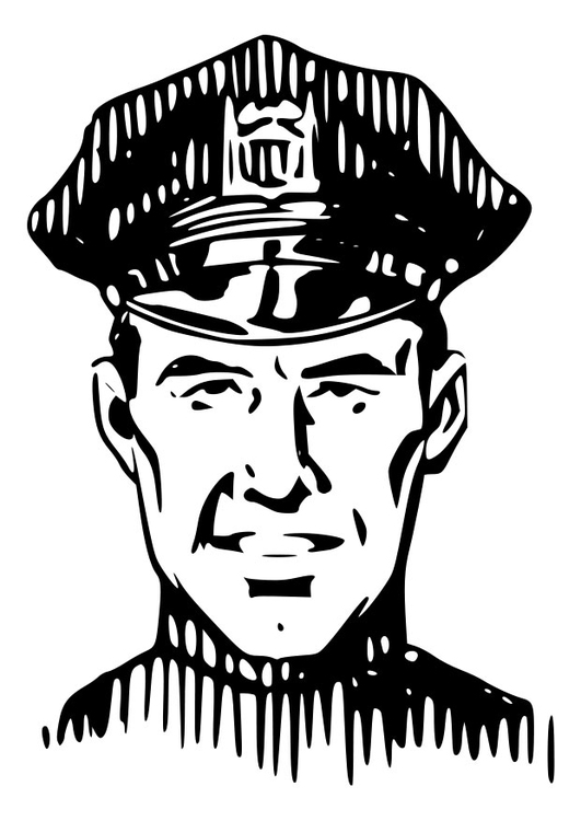 Coloring page police
