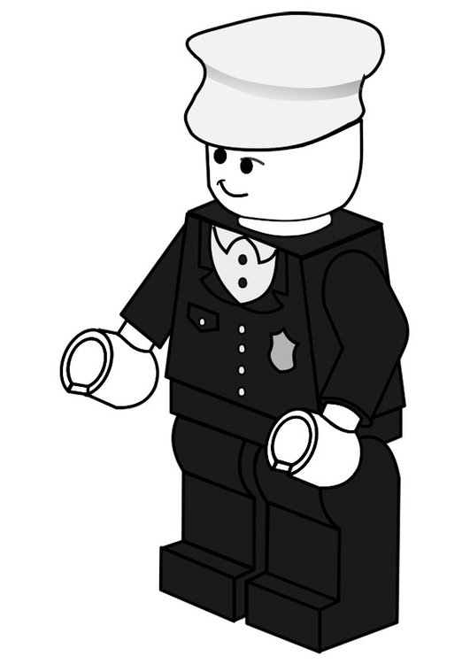 Coloring page police officer