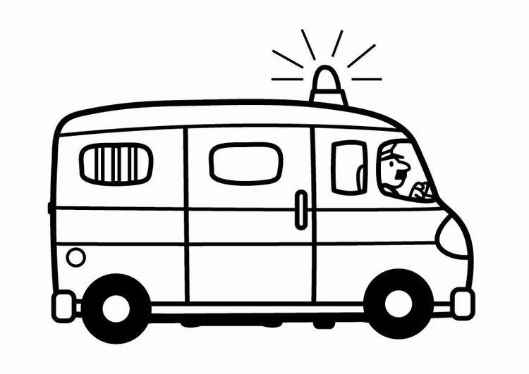 Coloring Page Police Van