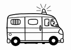 Coloring pages police van