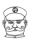 Coloring page Policeman mask