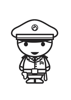 Coloring page Policeman